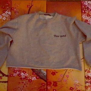 Cropped sweatshirt!
